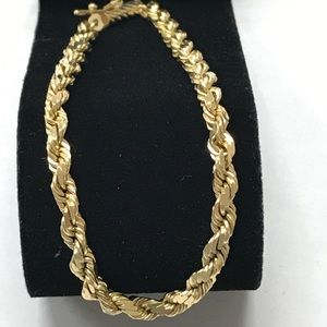 Jewelry - Heavy 14K SOLID Gold 4mm Rope Chain Bracelet